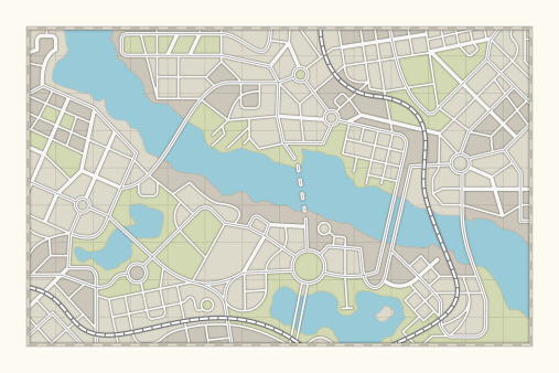 isolated city map.3d render.See also: