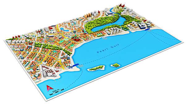 3 D carte de la ville - Photo