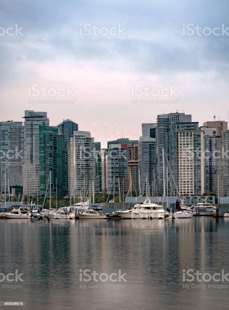 City Marina stock photo