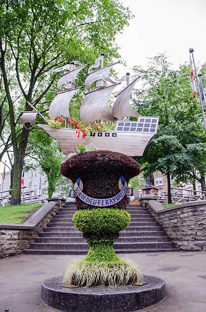 City motto of Quebec City stock photo