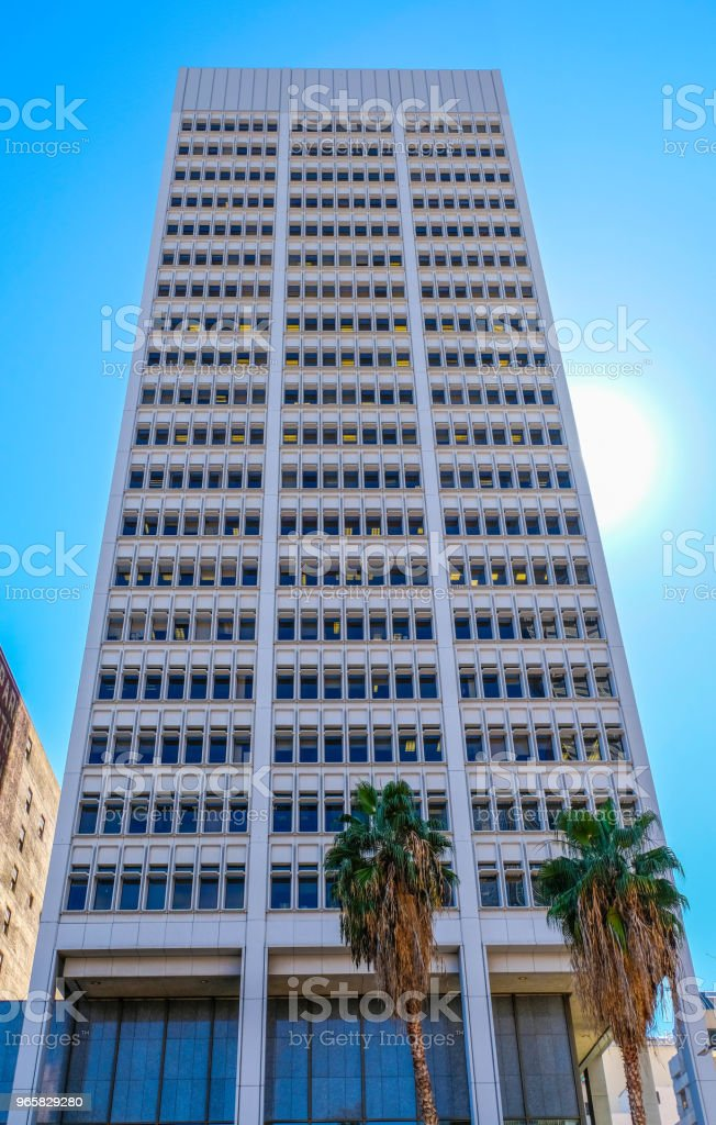 City National Bank Building. Downtown Los Angeles. - Royalty-free Architecture Stock Photo