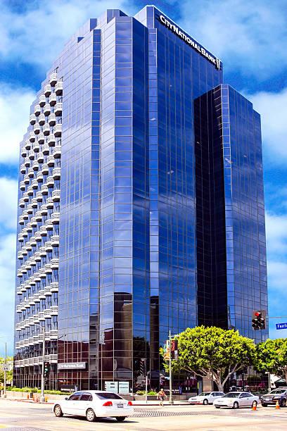 City National Bank skyscraper office block in Los Angeles stock photo