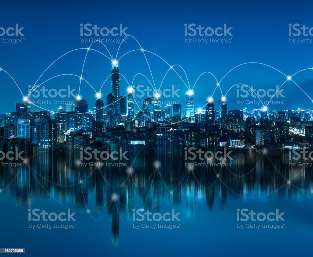 City Network of Beijing stock photo