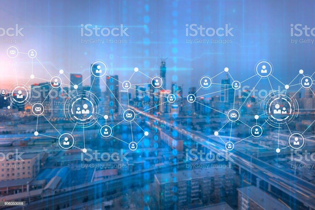 Stadt-Netzwerk – Foto