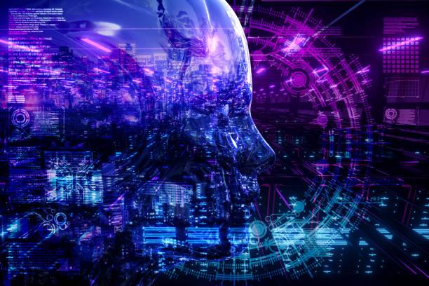 AI-Stadt-Netzwerk-Server-Technologie – Foto