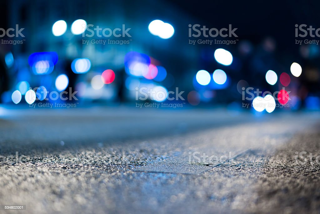 City night lights stock photo