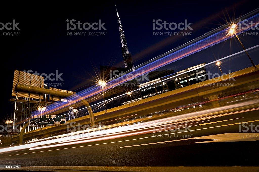 city night traffic royalty-free stock photo