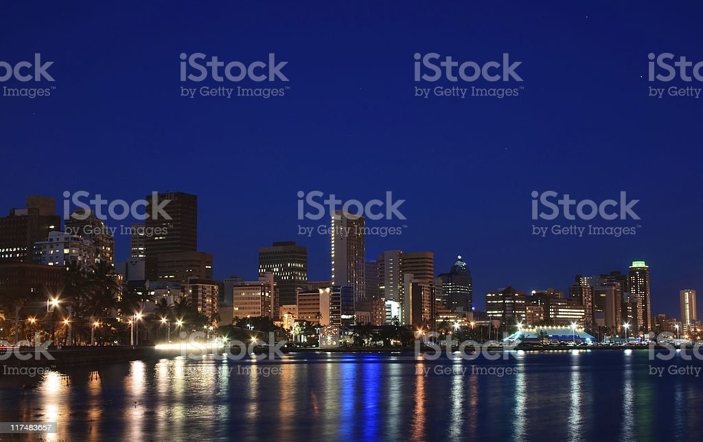 city night view stock photo