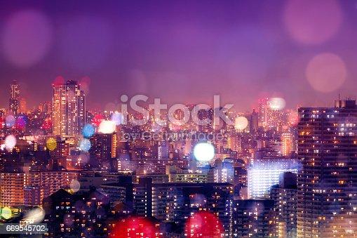 istock City nightlife, blur bokeh background 669545702