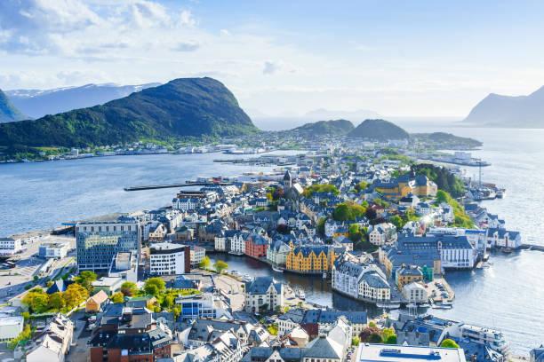 city of alesund, norway - norvegia foto e immagini stock