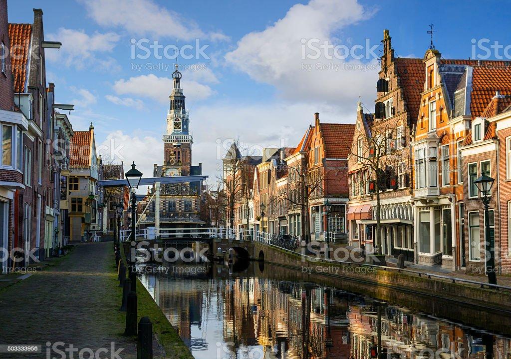 City of Alkmaar stock photo