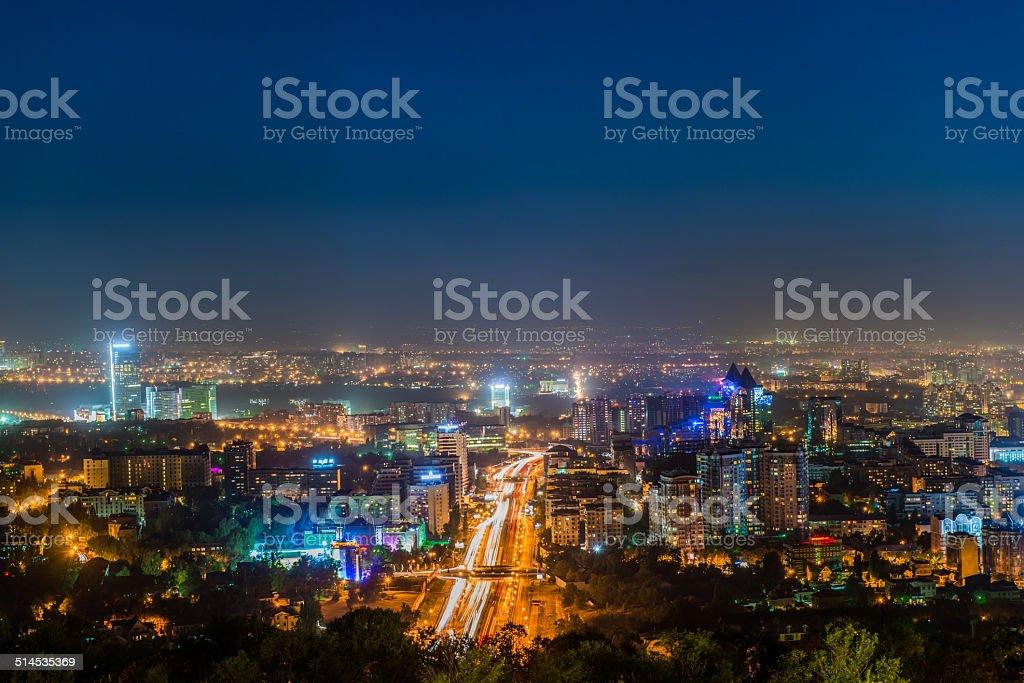 City of Almaty stock photo