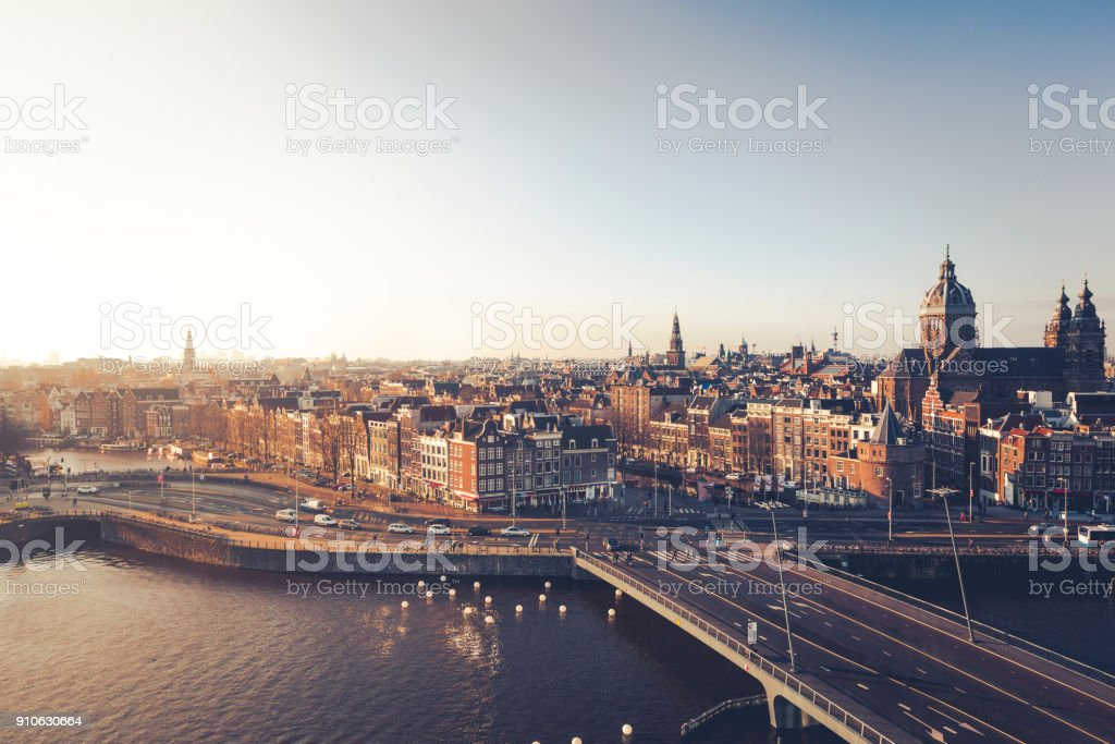 city of amsterdam, the netherlands stock photo