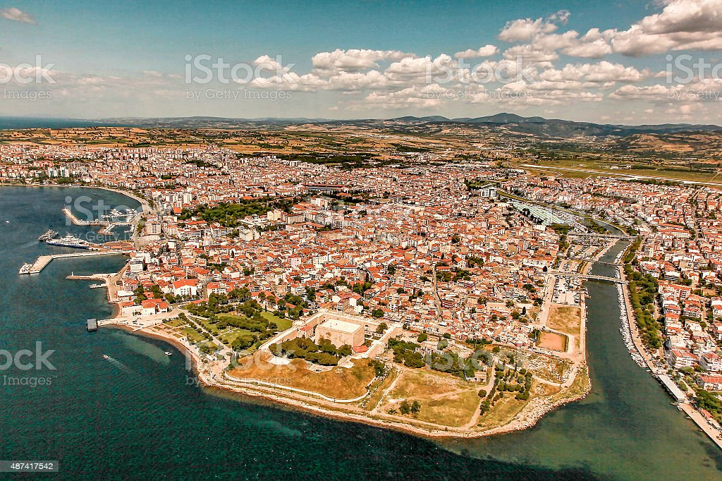 City of Çanakkale in Turkey stock photo
