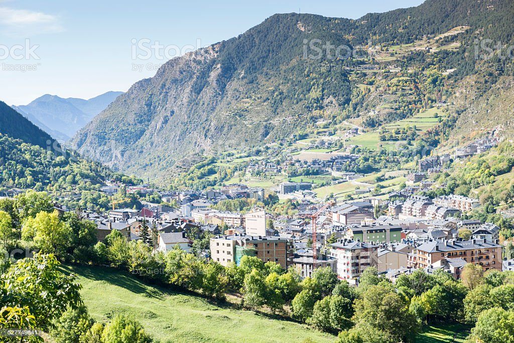 Cidade de Andorra La Vella. - foto de acervo
