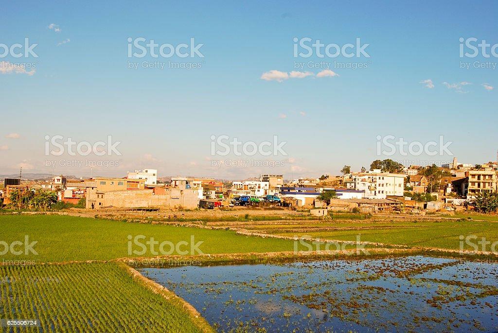 City of Antananarivo at sunny day. Madagascar stock photo
