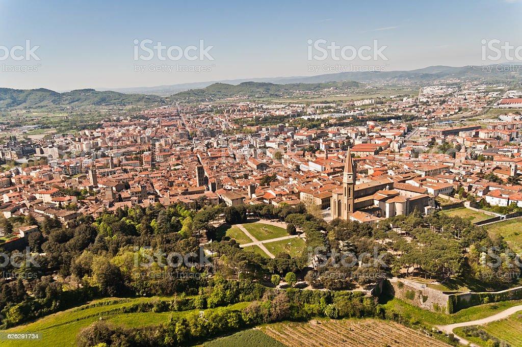 Città di Arezzo in Toscana - Italia - foto stock