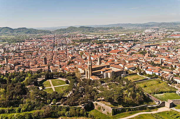 city of Arezzo in Tuscany - Italy Panorama of the beautiful city of Arezzo in Tuscany - Italy arezzo stock pictures, royalty-free photos & images