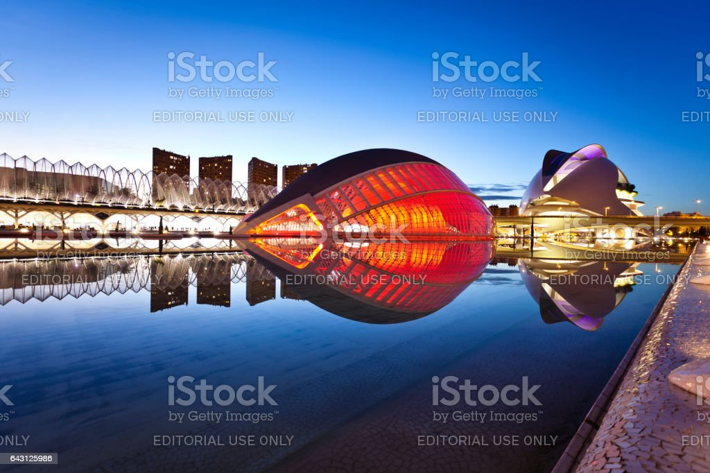 City of arts and Sciences at Valencia, Spain stock photo
