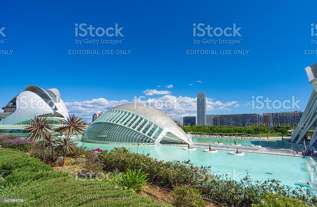 City of Arts and Sciences of Valencia stock photo