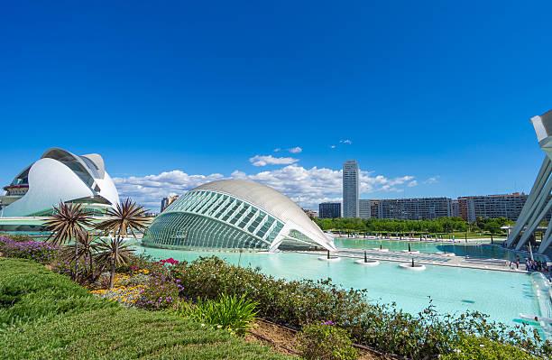 city of arts and sciences of valencia - valencia stockfoto's en -beelden