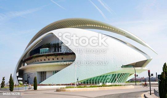 Valencia, Spain - May 28, 2016: Principe Felipe museum in Valencia, Spain. Was designed by Santiago Calatrava architect.
