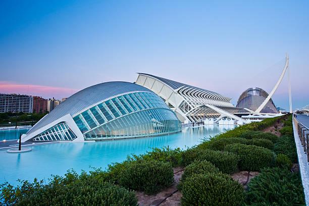 city of arts and sciences - valencia stockfoto's en -beelden