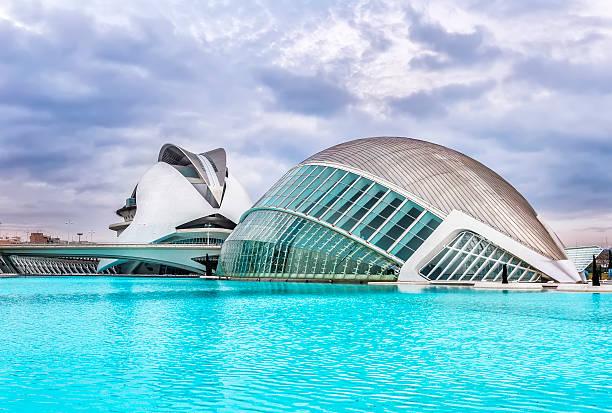 city of arts and sciences valencia. - valencia stockfoto's en -beelden