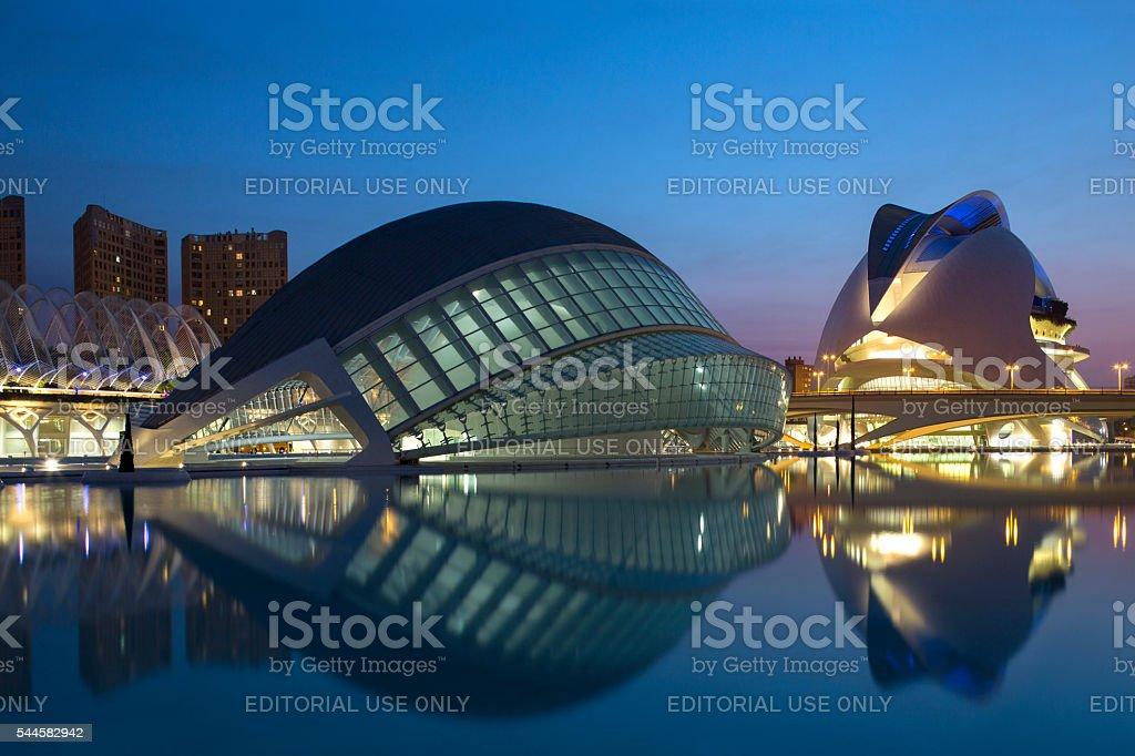 City of Arts and Sciences - Valencia - Spain stock photo