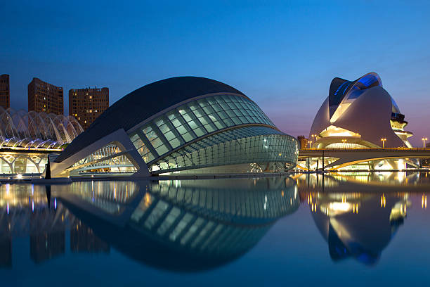 City of Arts and Sciences - Valencia - Spain stock photo
