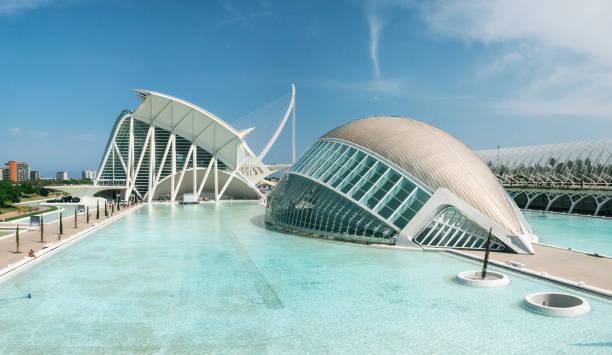 city of arts and sciences. valencia, spanje - valencia stockfoto's en -beelden