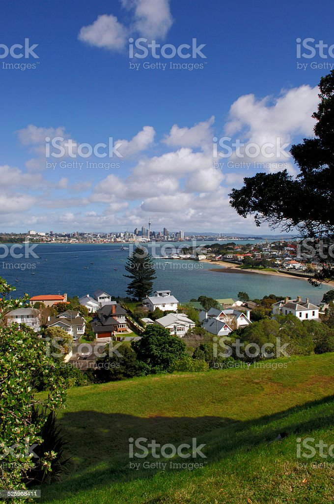City of Auckland New Zealand from Devonport stock photo
