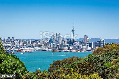 Auckland from Devonport, New Zealand (more than 3 logos)
