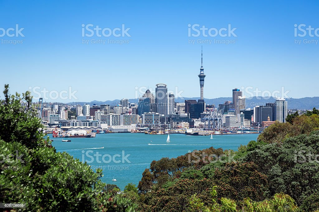 City of Auckland View From Devonport, New Zealand stock photo