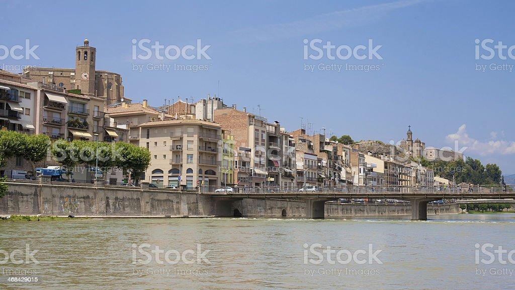 City of Balaguer stock photo