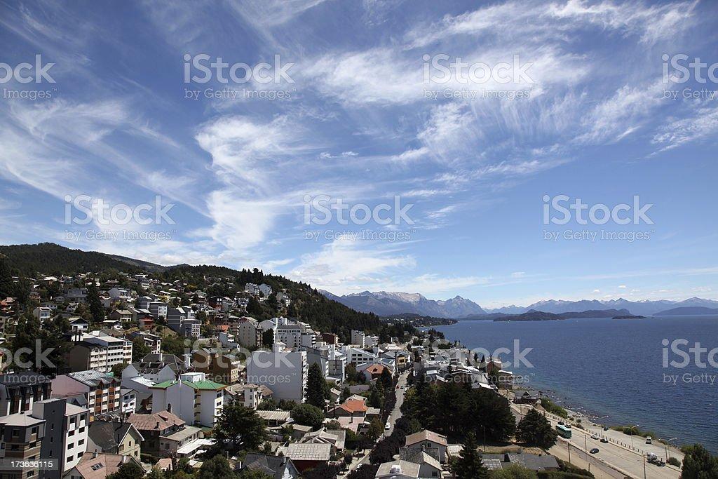 City of Bariloche royalty-free stock photo