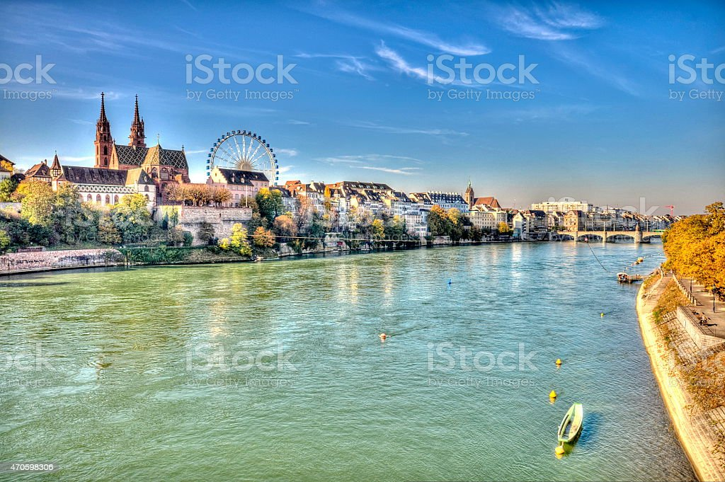 City of Basel in Switzerland royalty-free stock photo