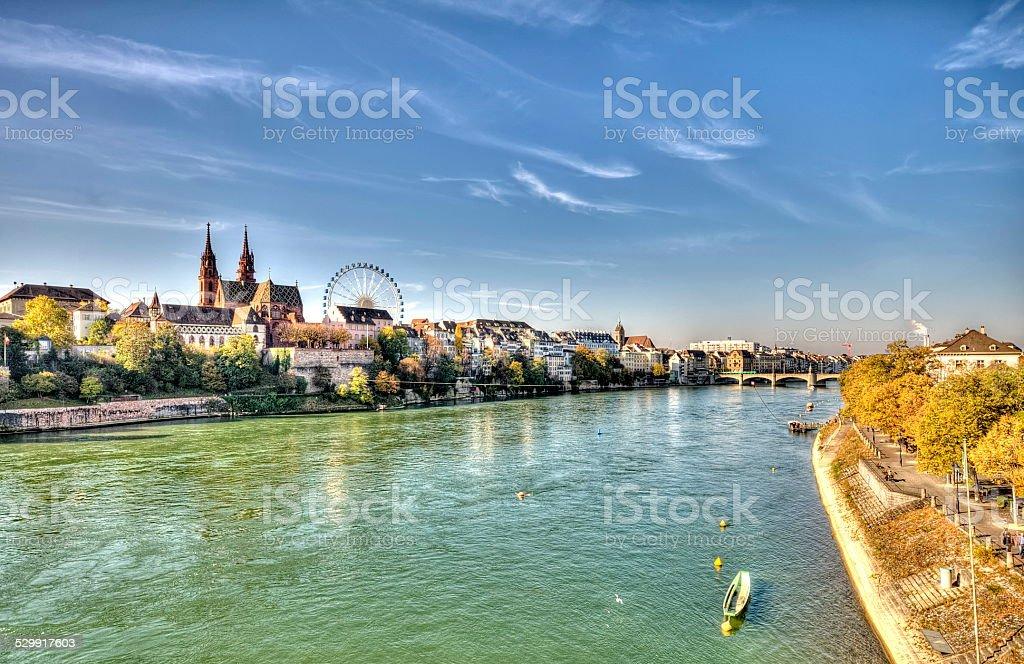 City of Basel in Switzerland stock photo