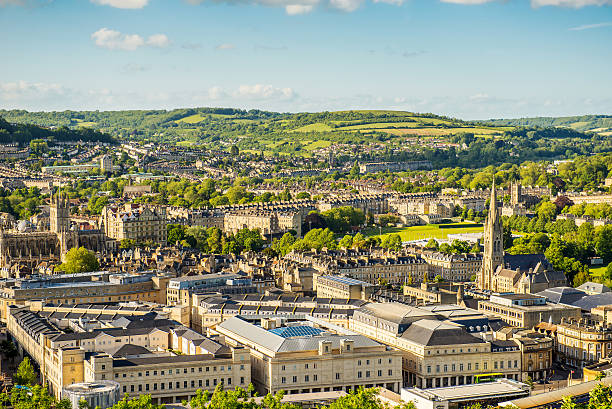 City of Bath City of Bath, Somerset, England, view from Alexandra Park. somerset england stock pictures, royalty-free photos & images
