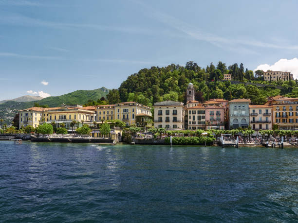 City of Bellagio, Lake Como, Italy stock photo