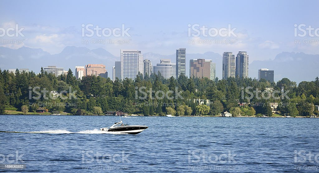 City of Bellevue in Washington stock photo