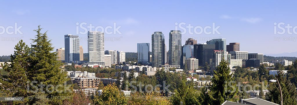 City of Bellevue in Washington State stock photo