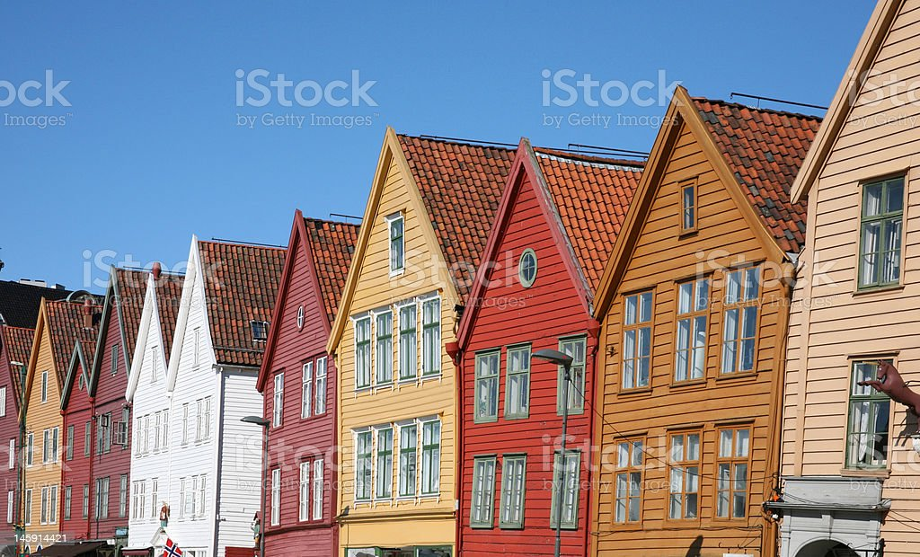 City of Bergen, Norway royalty-free stock photo