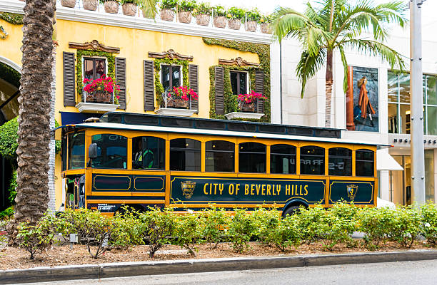 City of Beverley Hills Tram, Los Angeles stock photo