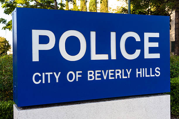City of Beverly Hills Police Sign Picture stock photo
