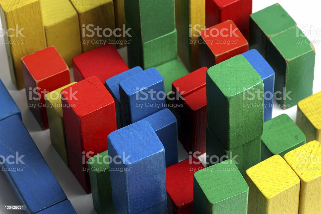 City of blocks stock photo