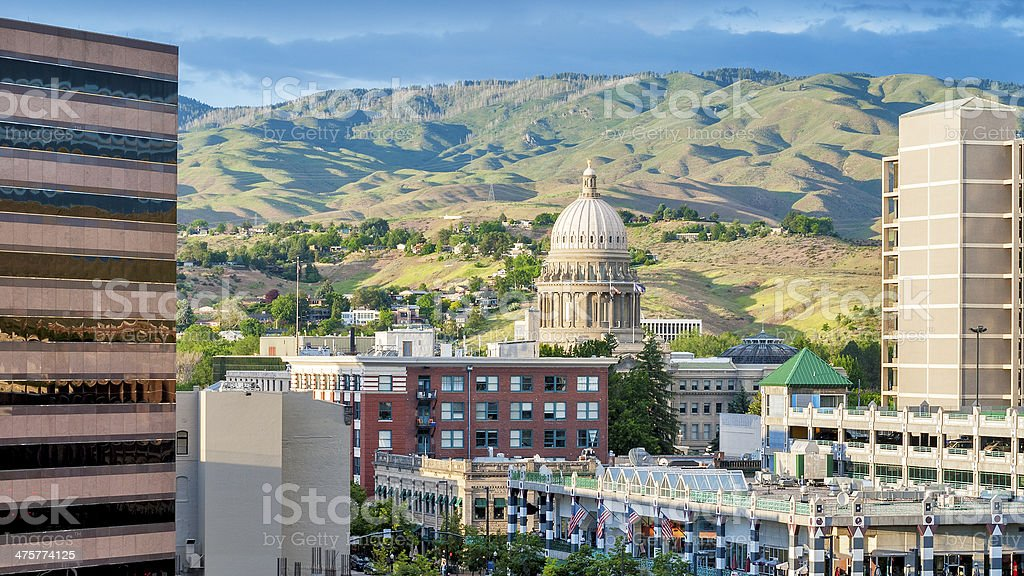 City of Bosie Idaho with modern buildings stock photo