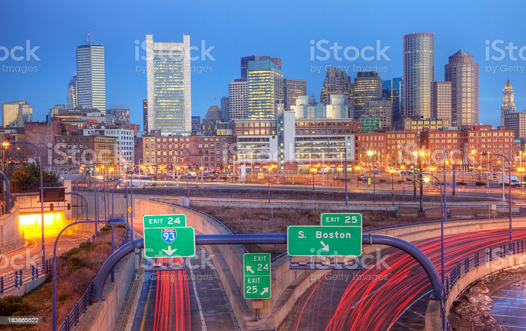 City of Boston royalty-free stock photo