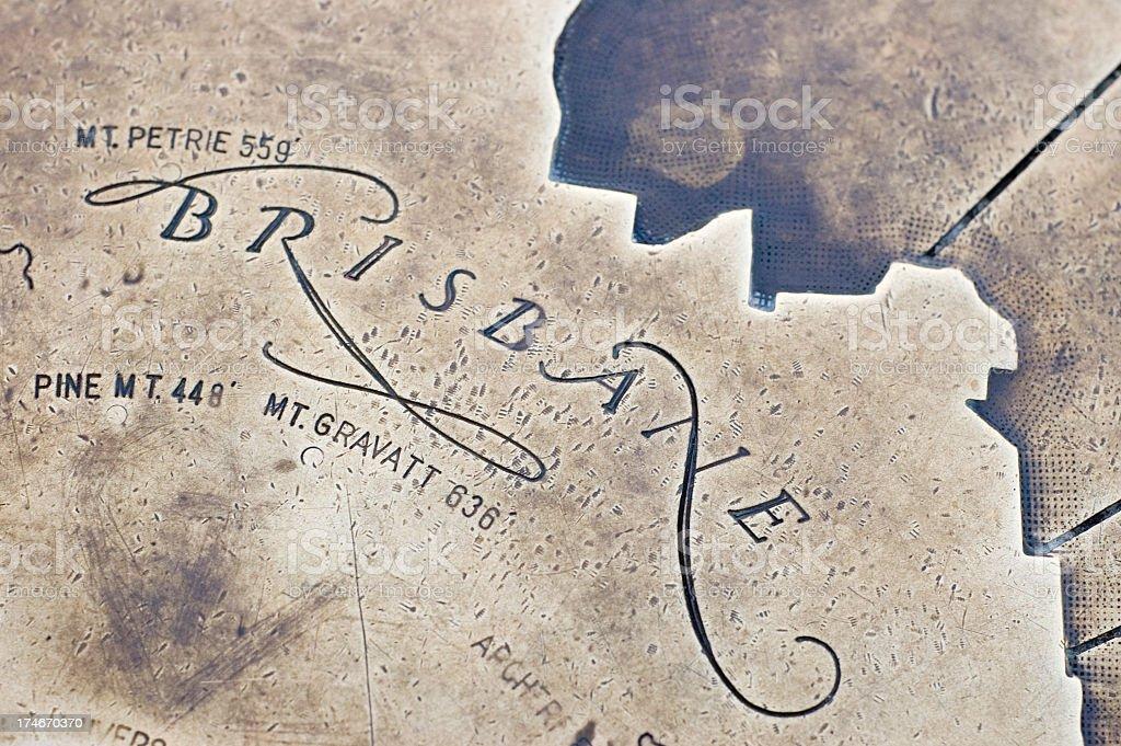 City of Brisbane map stock photo