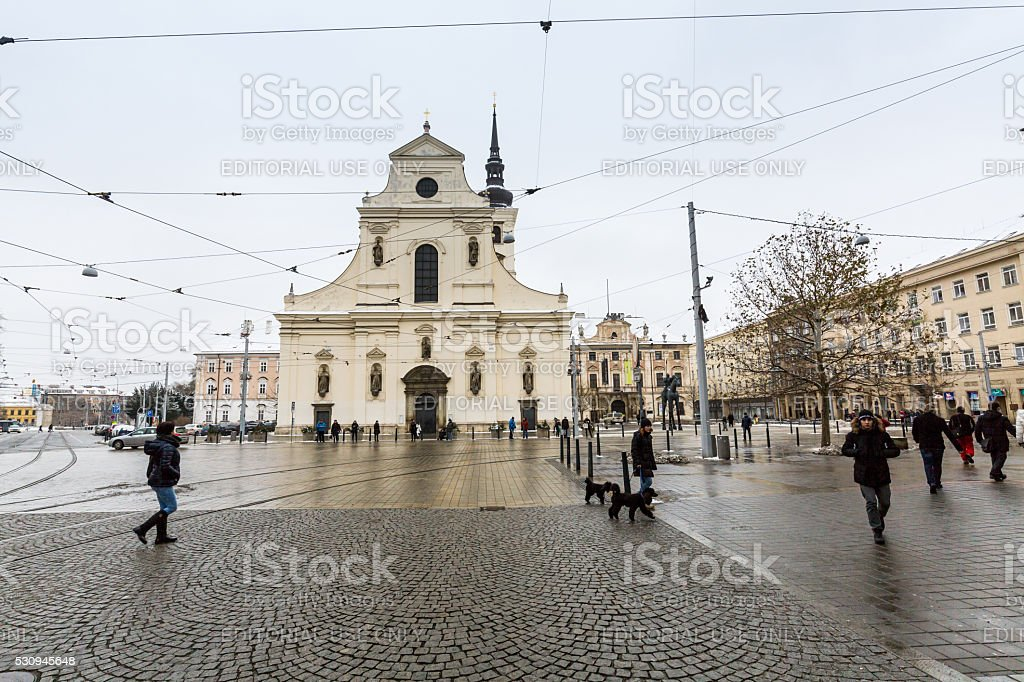 City of Brno in Czech Republic in winter stock photo